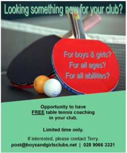2017 Table Tennis Coaching