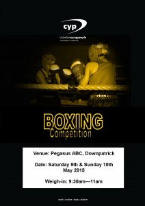 Boxing Competition 2015 Poster